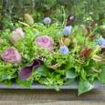1周忌のお花 バラ(ブルーミルフィーユ)など 4月下旬