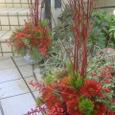 門松(赤色のテーマで) 12月下旬