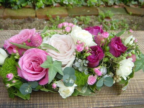 5種類のバラを使って 4月中旬