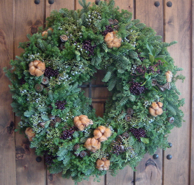美容院「アディクト」さんのクリスマス装飾(リース)1 12月初め