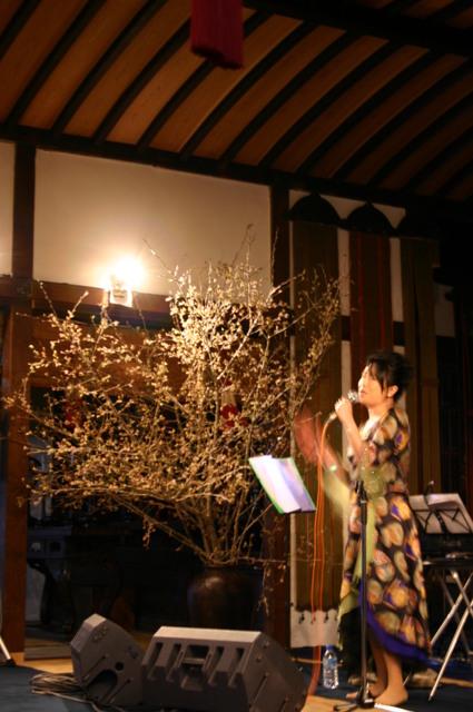 日野美歌さん桜ライヴ 京都「法然院」にて 4月中旬