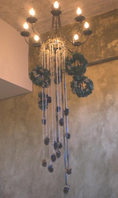 美容院のクリスマス装飾 12月上旬