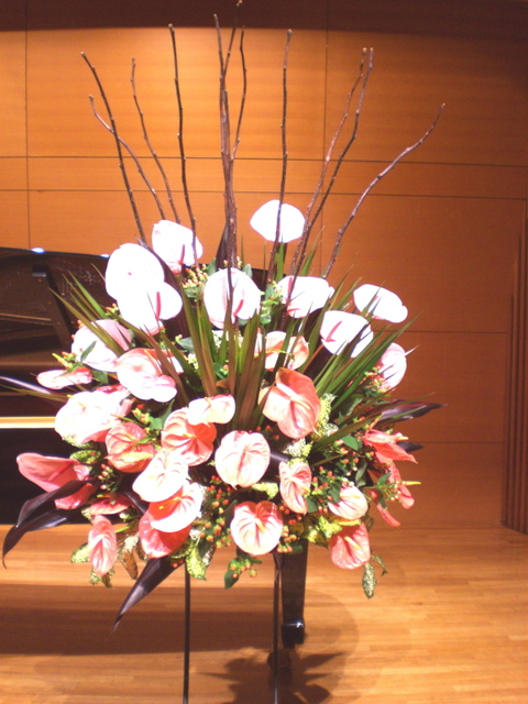 夏のピアノ発表会 アンセリュームをメインに(山手ゲーテ座にて)7月中旬
