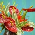 引っ越し祝いに 花器付きブーケのプレゼント 7月下旬
