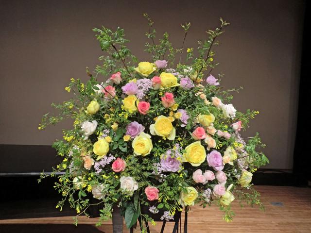 ピアノ発表会 バラをメインに 4月下旬