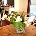 元町のカフェ「kaoris」さんの生け込み 8月下旬