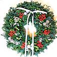クリスマスリース(バラの実、シルバーブルニアなど)12月上旬