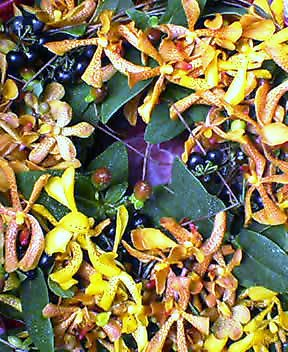 生花のリース、モカラを使って 9月下旬