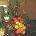 ケーキハウスノリコさん たまプラーザ東急百貨店催事のためのアレンジメント(ピンクッションを使って)